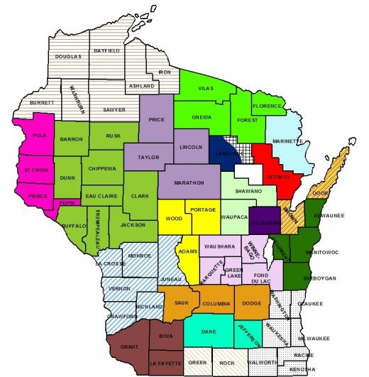 Wisconsin TU Chapters Map